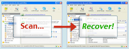 Scan then recover your MS Word password now!